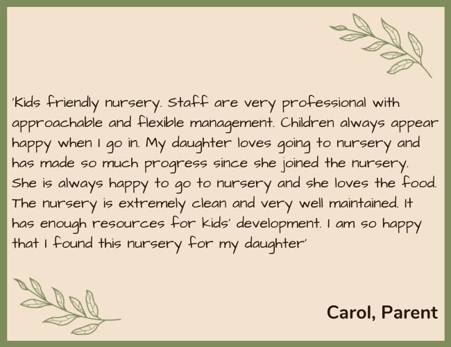 FDN Testimonial Green - Carol 2 Parent